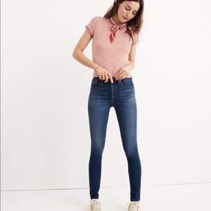 "Madewell 10"" High-Rise Skinny Cropped Jeans TENCEL"